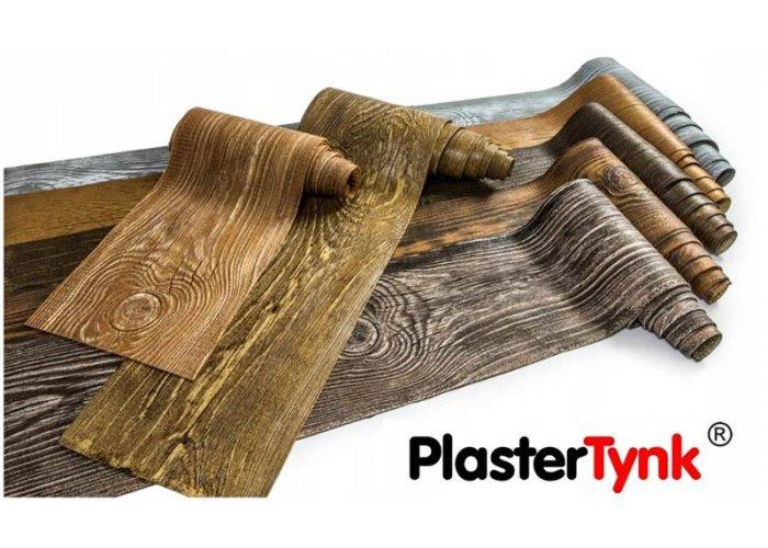Elastyczne deski elewacyjne PlasterTynk - imitacja drewna. Dekostyl perfectstyr