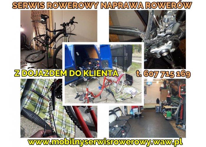 Mobilny serwis rowerowy Warszawa, całe mazowsze / Naprawa rowerów z dojazdem do