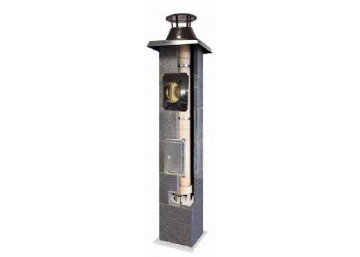 Komin do gazu Turbo dymowy fi 120 (do pieców zamkniętą komorą spalania) OPTIMUM