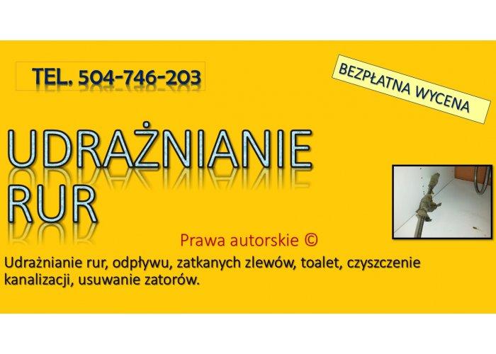 Przepychanie rury, Wrocław, tel. 504-746-203. Cennik.  Udrażnianie odpływu toale