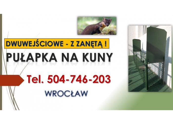 Pułapka na kuny, lisy, odbiór, Wrocław, tel. 504-746-203. Łowienie, żywołapka,