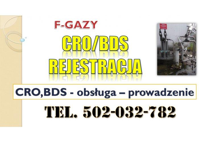 Szkolenie Centralny Rejestr Operatorów CRO, BDS, F-gazy, fluorowane, cieplarnian