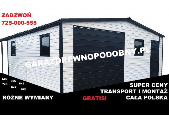 Garaż Blaszany Akrylowy 6x5