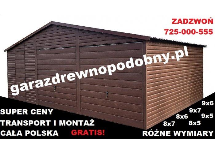 Garaż Blaszany Drewnopodobny 8x6