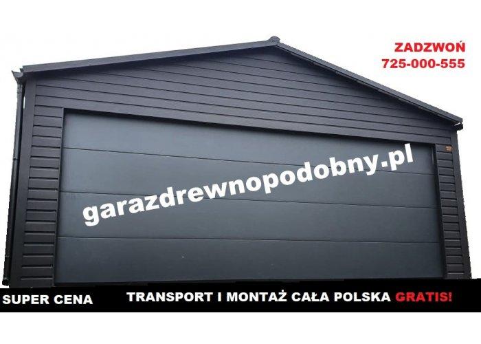 Garaż blaszany drewnopodobny garaże blaszane 6x5