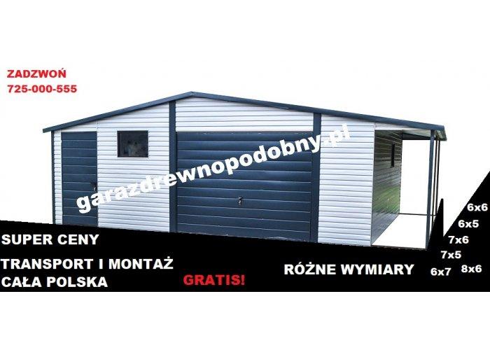 Garaż Blaszany Blaszak Garaże Blaszane Wiata 6x6