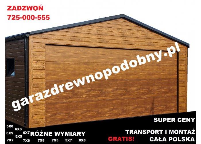 Garaż Blaszany Drewnopodobny 6x5, wiaty, hale, konstrukcje stalowe