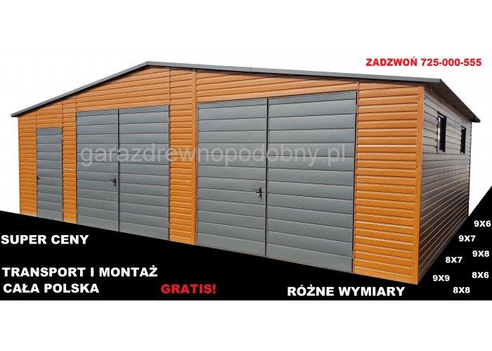 Hala blaszana, każdy wymiar, transport i montaż gratis na terenie całej Polski
